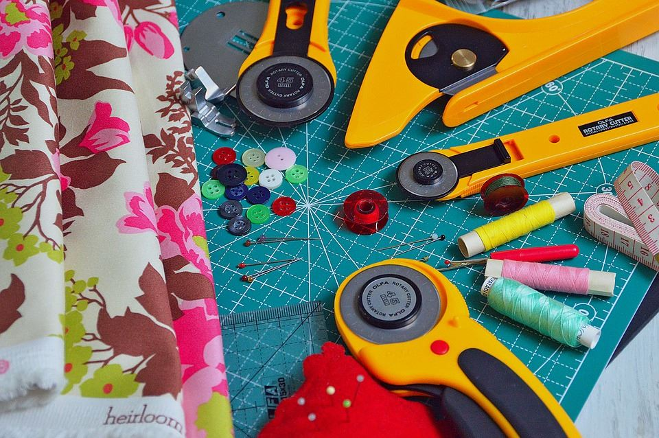 Image of quilting materials