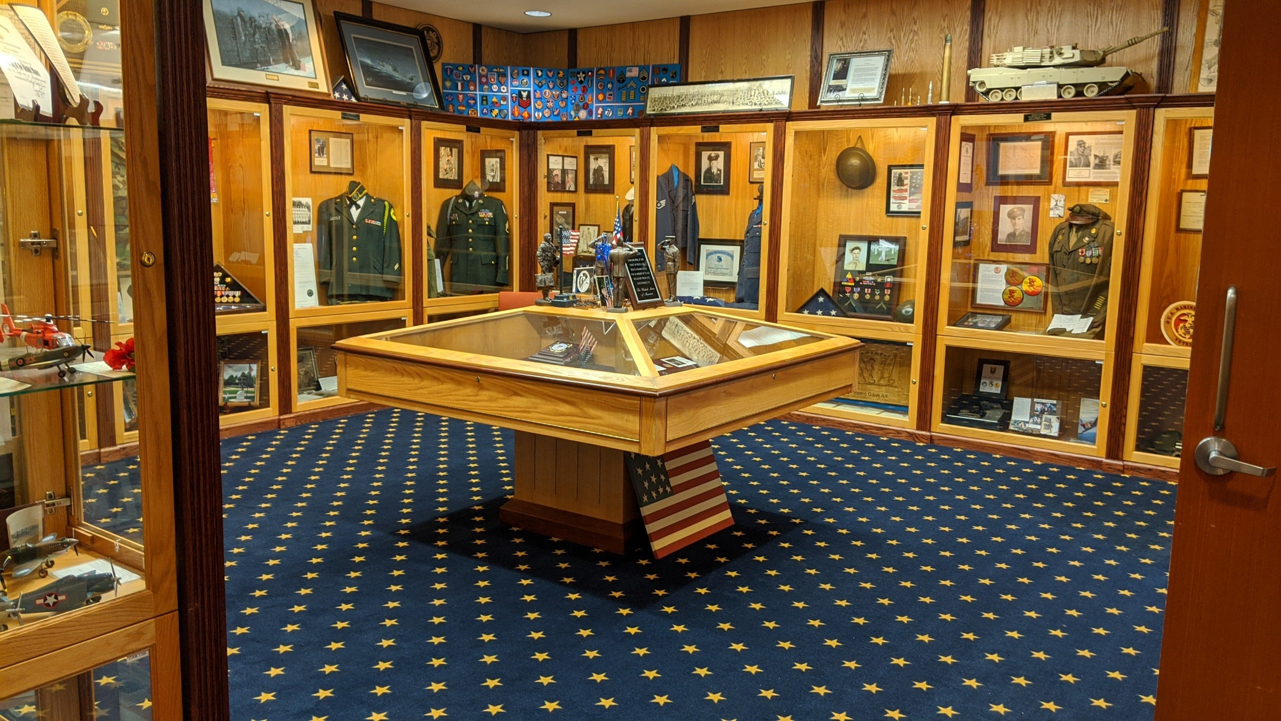 Inside of the Taylor Veterans Museum