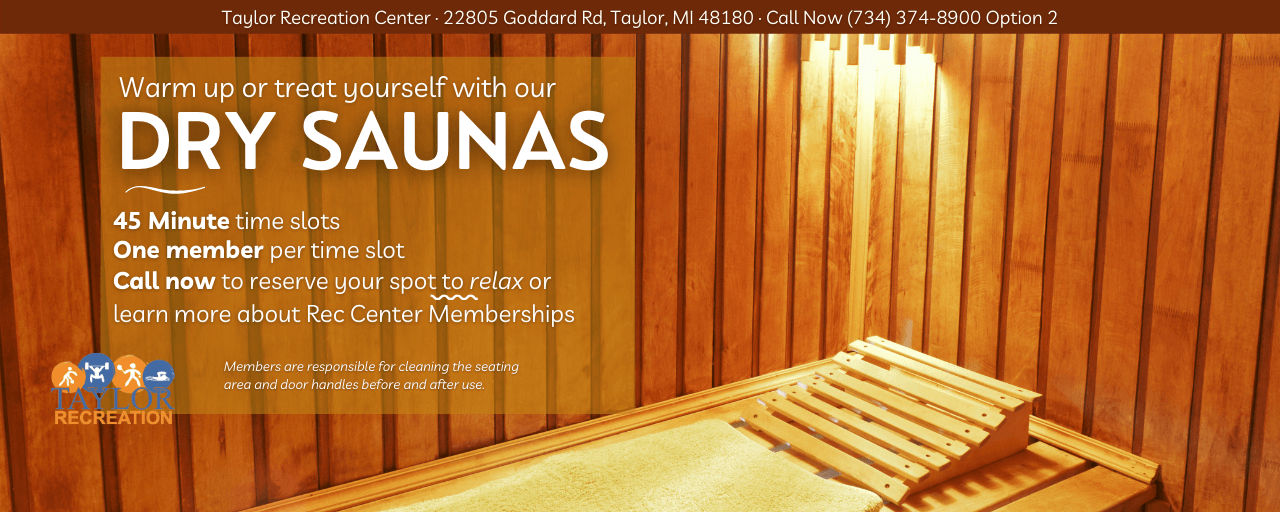 Dry Sauna at the Rec Center